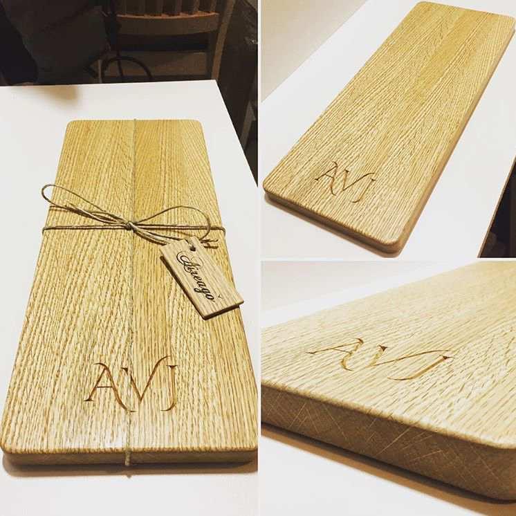 Custom Oak Cheese Board